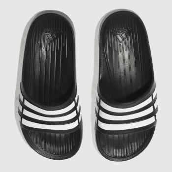 Adidas Black & White DURAMO SLIDE Unisex Junior