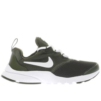 NIKE KHAKI PRESTO FLY TRAINERS JUNIOR