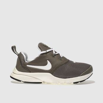 NIKE TAUPE PRESTO FLY TRAINERS JUNIOR