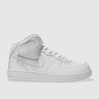 NIKE WHITE AIR FORCE 1 MID TRAINERS JUNIOR