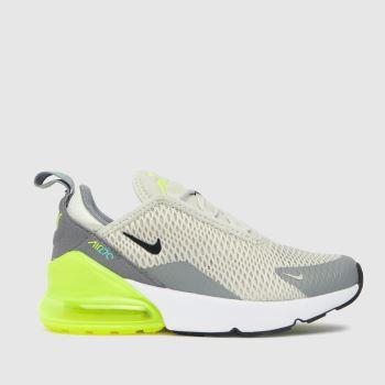 Nike Grey & Lime Air Max 270 Unisex Junior