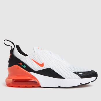 Nike White & Orange Air Max 270 Unisex Junior
