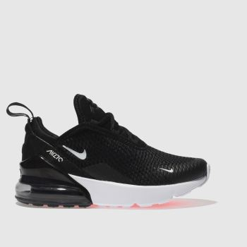 promo code be1b5 1e6ec Nike Black   White Air Max 270 Unisex Junior