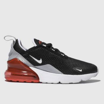 Nike Black & Red Air Max 270 Unisex Junior