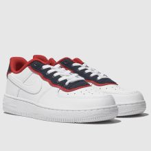 f00847929f Kids Unisex white & navy nike air force 1 lv8 1 dbl trainers | schuh