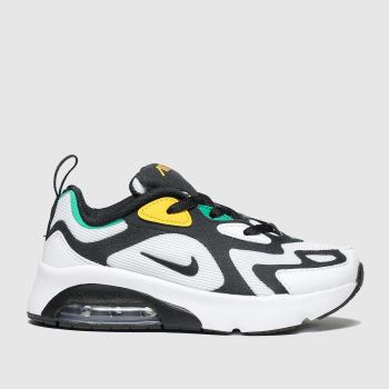 nike white & black air max 200 trainers junior