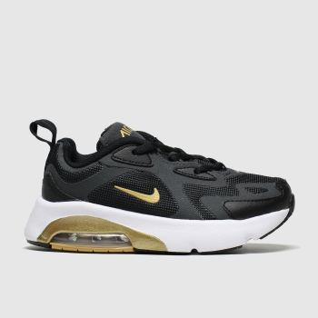 Nike Black & Gold Air Max 200 Unisex Junior