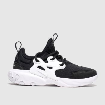 Nike Black & White Presto React Unisex Junior