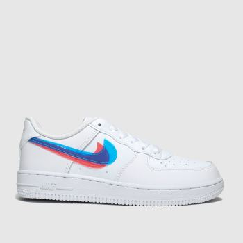 Nike White & Blue Air Force 1 Lv8 Ksa Unisex Junior