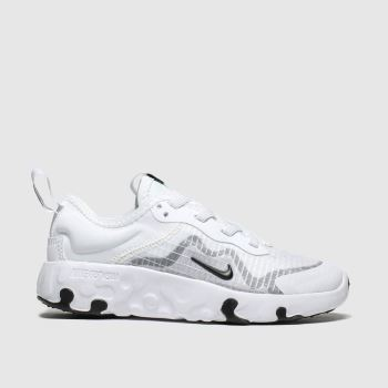 nike white & grey renew lucent trainers junior
