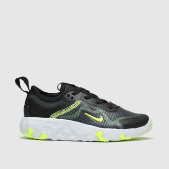 nike black & green renew lucent trainers junior