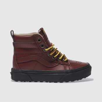 VANS BURGUNDY SK8-HI MTE JUNIOR TRAINERS