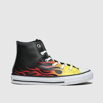 Converse Black & Orange All Star Hi Flame Unisex Junior