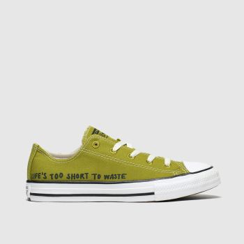 converse dark green all star lo renew trainers junior