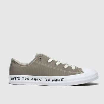Converse Grey Chuck Taylor All Star Renew Lo Unisex Junior