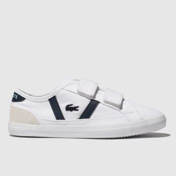 Lacoste White & Navy Sideline Unisex Junior
