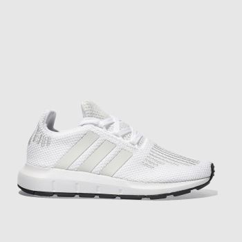 ADIDAS WHITE SWIFT RUN TRAINERS JUNIOR