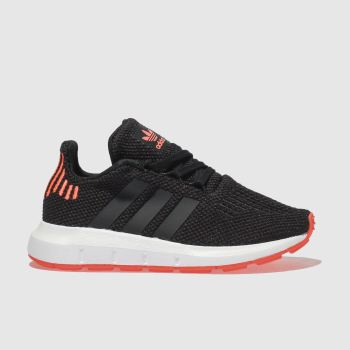 Adidas Black & Orange SWIFT RUN Unisex Junior
