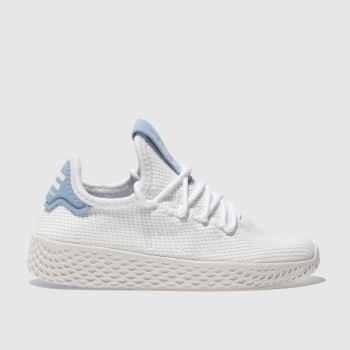 Adidas White & Blue Pharrell Willaims Tennis Hu Unisex Junior