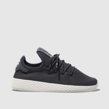 ADIDAS DARK GREY TENNIS HU TRAINERS JUNIOR