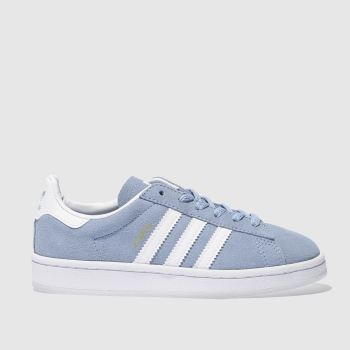 ADIDAS PALE BLUE CAMPUS TRAINERS JUNIOR