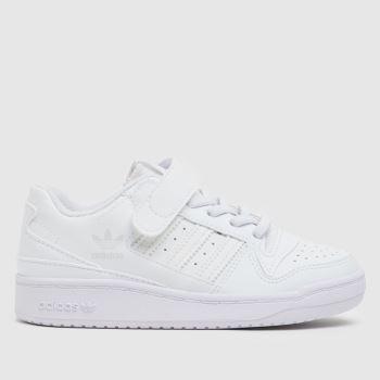 adidas White Forum Low Unisex Junior