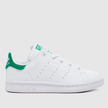 adidas White & Green Stan Smith Unisex Junior