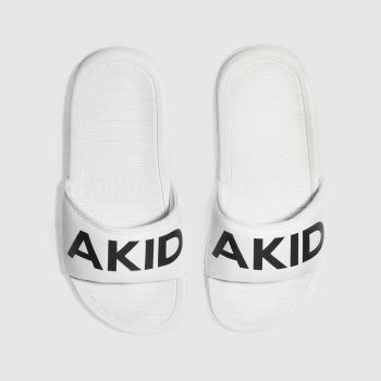 AKID WHITE & BLACK ASTON TRAINERS JUNIOR