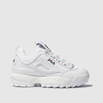 Fila White Disruptor Ii Unisex Junior