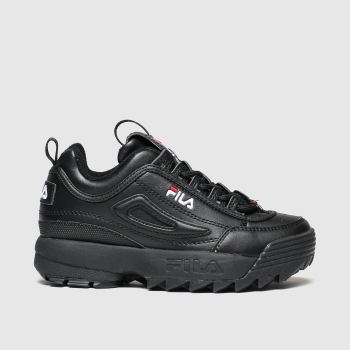 Fila Black Disruptor Ii Unisex Junior