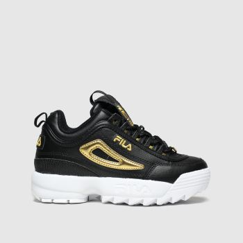 Fila Black & Gold Disruptor Metallic Flag Unisex Junior