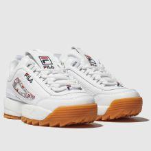 elegante schoenen goede pasvorm beter fila white & navy disruptor ii haze trainers junior
