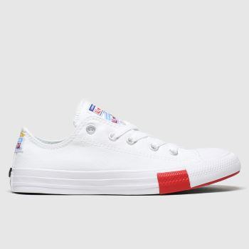 Converse White Lo Logo Play Unisex Junior