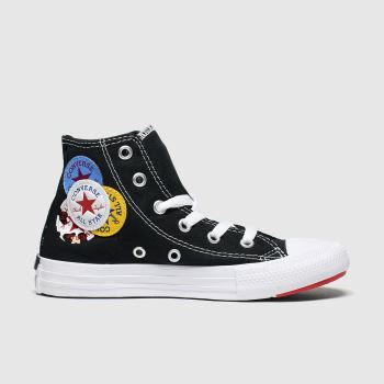 Converse Schwarz-Weiß Hi Logo Play c2namevalue::Unisex Junior