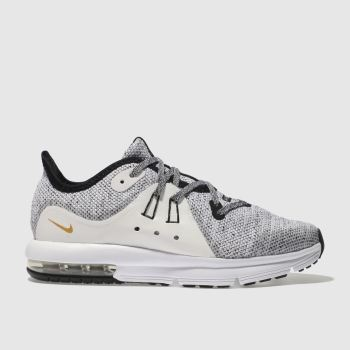 Nike White & Black Air Max Sequent 3 Unisex Junior