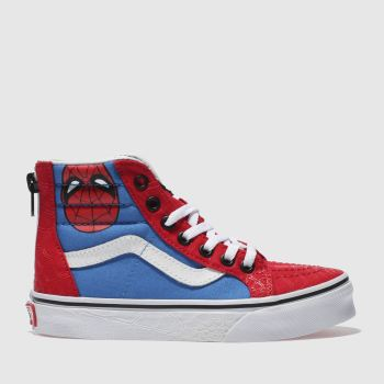 Vans Red Sk8-Hi Zip Marvel Spider-Man Unisex Junior