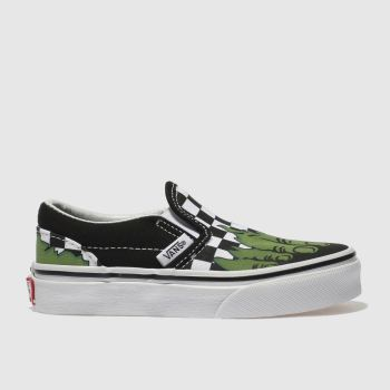 a29e0a8fa6be Kids Unisex black   white vans classic slip-on marvel hulk trainers ...