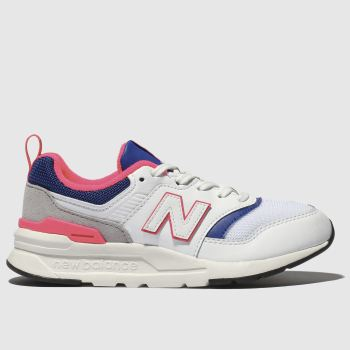 New Balance White & Blue 997 Unisex Junior