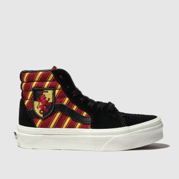 Vans Black & Red Hp Gryffindor Sk8-Hi Unisex Junior