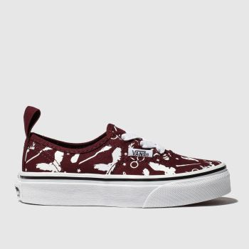 Vans Burgundy Hp Authentic Unisex Junior