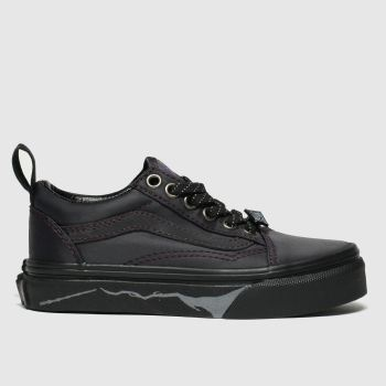 Vans Black Hp Deathly Hallows Old Skool Unisex Junior