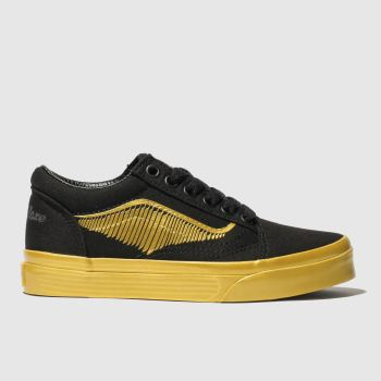 Vans Black & Gold Hp Golden Snitch Old Skool Unisex Junior