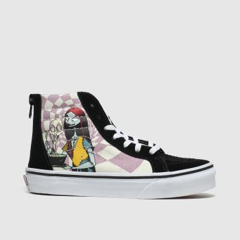 vans black & pink sk8-hi zip x tnbc trainers junior