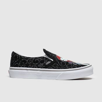 vans black & grey slip on x tnbc trainers junior