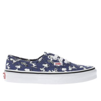 Vans Navy Authentic Peanuts Snoopy Unisex Junior