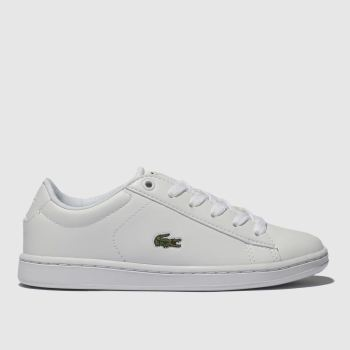 Lacoste White & Green Carnaby Evo Unisex Junior