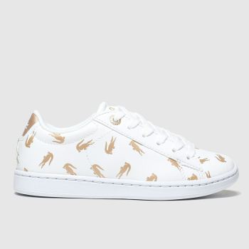 Lacoste White & Gold Carnaby Evo Unisex Junior