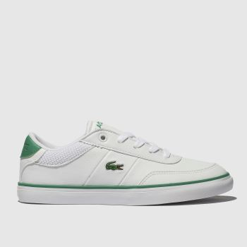 Lacoste White & Green Court-Master Unisex Junior