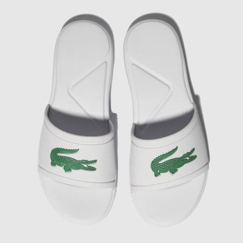 Lacoste White & Green L.30 Slide Unisex Junior
