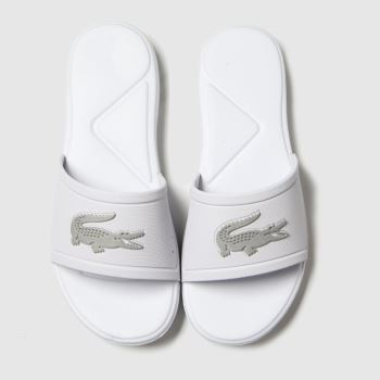 Lacoste White & Silver L.30 Slide Unisex Junior
